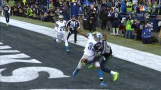 Incredible one hand catch TD - Paul Richardson Seattle Seahawks - Detroit Lions 01-08-2017