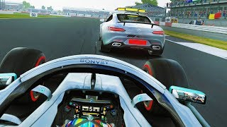 F1 2019 Career Mode Part 74: The Rarest Event In The Game! Twice! Unbelievable!