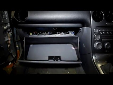 change replace glove box mazda  hd step  step