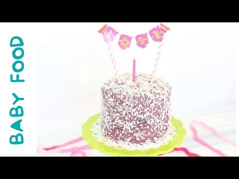 Baby Chocolate Purple Cake Recipe - No Eggs, No Dairy, Refined Sugar Free