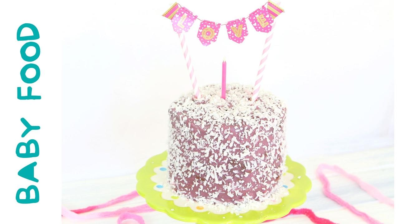 Baby Chocolate Purple Cake Recipe no eggs no dairy refined sugar