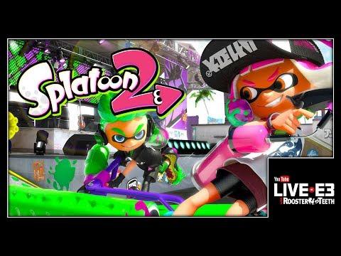 Splatoon 2 LIVE SALMON RUN CO-OP GAMEPLAY - YouTube Live at E3