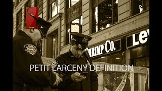 Petit Larceny Definition
