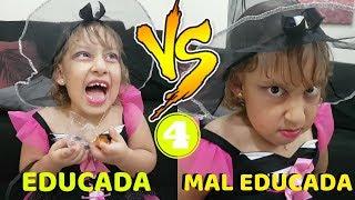 Criança Educada VS Mal Educada no HALLOWEEN - MC Divertida