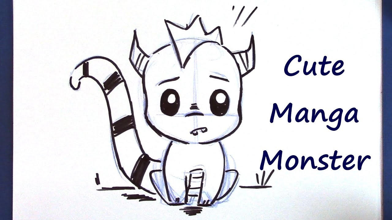 How To Draw A Manga Monster Super Cute And Easy Youtube
