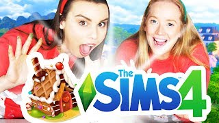 GINGERBREAD HOUSE BUILDING! The Sims 4 VS Real Life