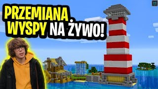Minecraft Ferajna LIVE: KOMPLETNA PRZEMIANA MOJEJ WYSPY! | 9:30 - Na żywo
