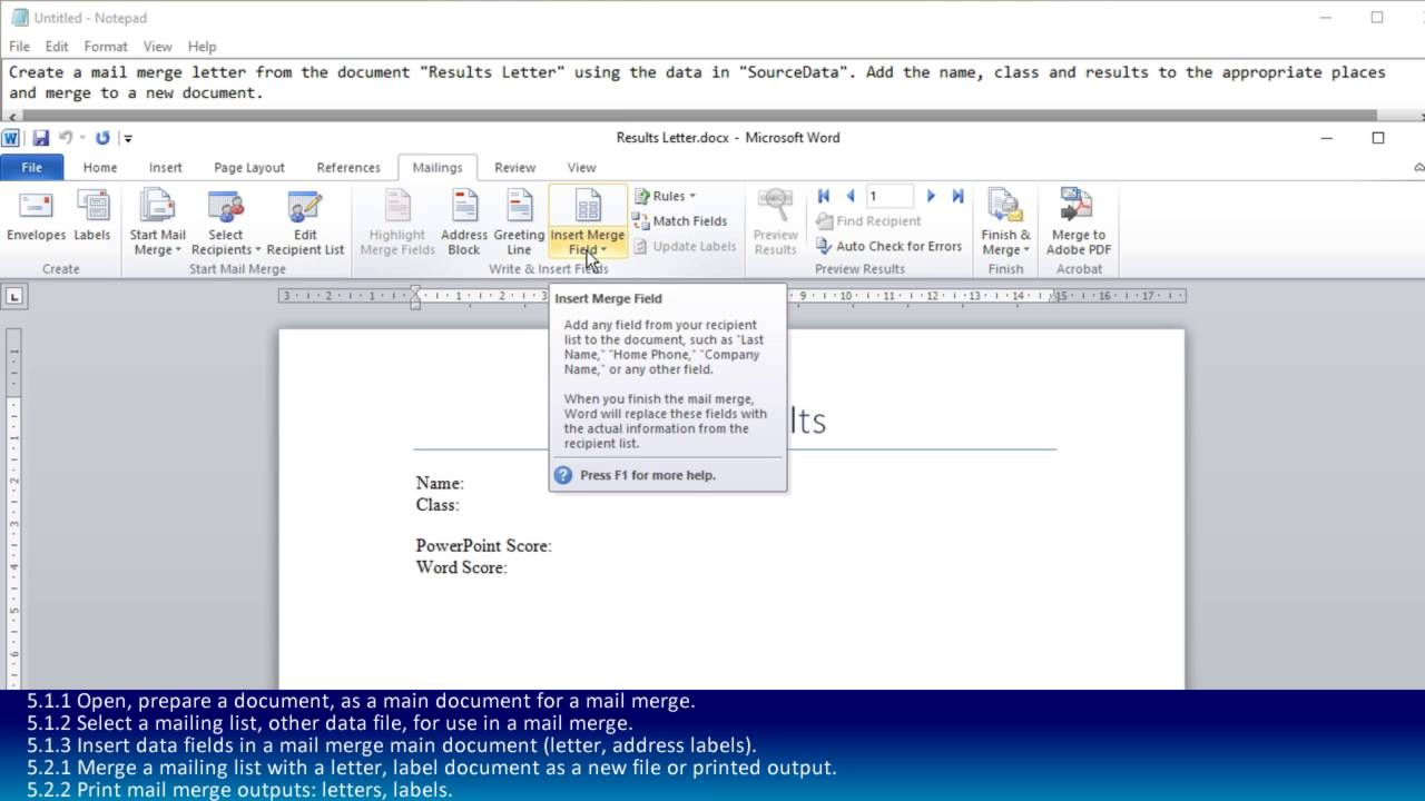 creating doc with mail merge Join gini von courter for an in-depth discussion in this video, creating a new data source for mail merge, part of word 2016: mail merge in depth.