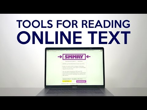 Tools for Reading Online Text