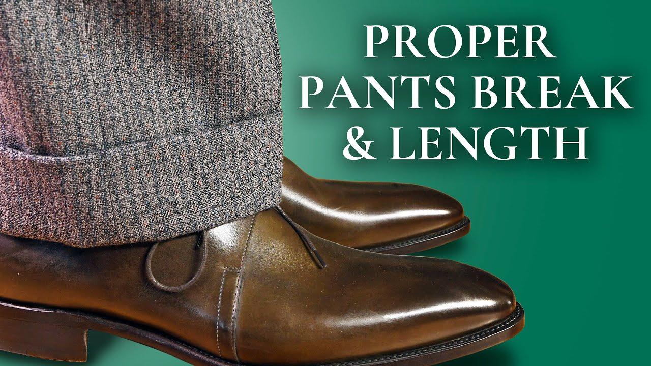 Proper Pants Break Length How To Hem Suit Trousers Dress Slacks