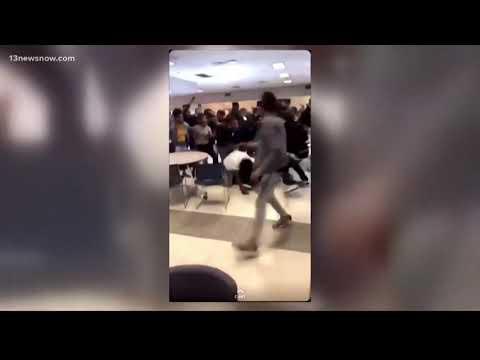 Brawls breakout at Norview High School