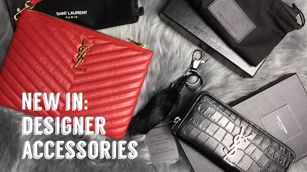 NEW IN  Designer Accessories    YSL   Alexander Wang - YouTube 56d38817c97ed
