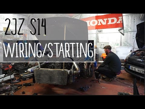 2JZ S14 | Wiring the ECU and starting the engine