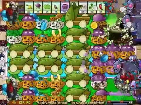 BANDERAS 100 A 200!! supervivencia infinita plants vs zombies