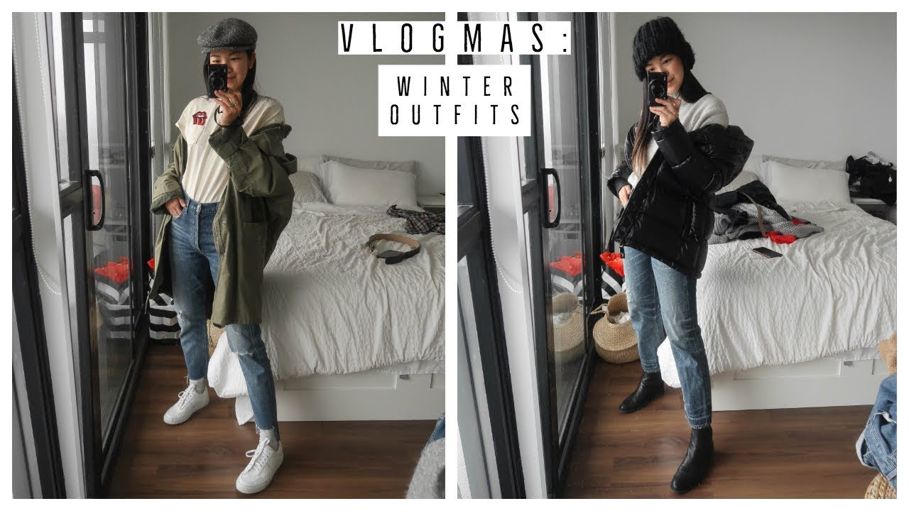 EASY WINTER OUTFIT IDEAS | WHAT I WORE | VLOGMAS !! 24 9
