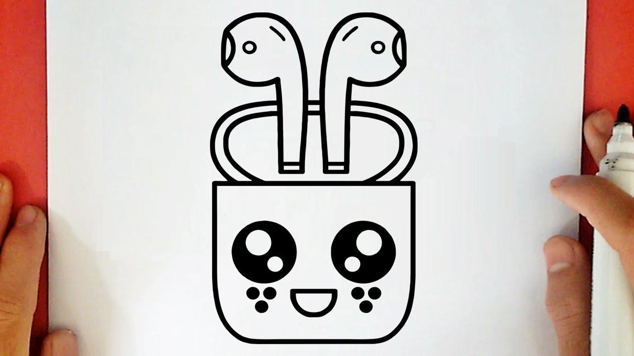 Comment Dessiner Un Airpods D Apple Kawaii Youtube