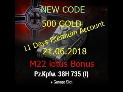 Wot Invite Codes 2018 Free Pz Kpfw 38h 735 F Youtube