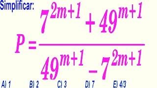 Teoría de Exponentes - Problema Resuelto - Examen de Admisión a La Universidad -  Álgebra Rubiños