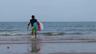 만리포 서핑, 패들아웃 훈련 9월 15일