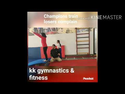 Gymnastics training time.. Kk gymnastics & fitness