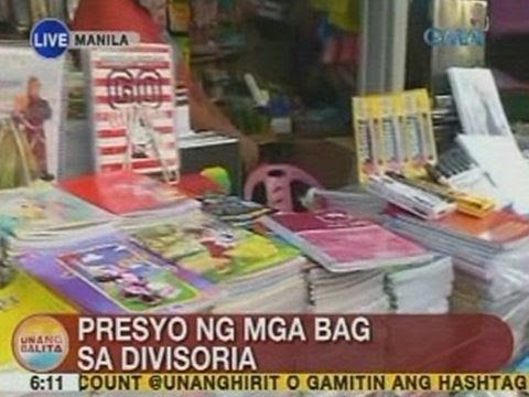 UB: Presyo ng mga bag at school supplies sa Divisoria, alamin