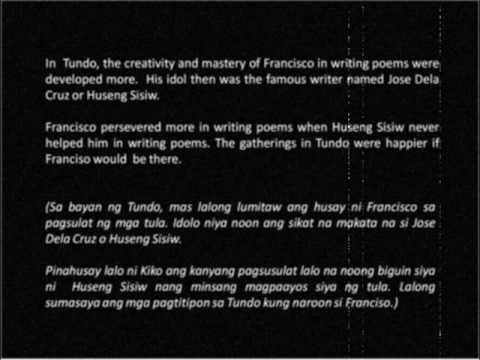 "Poet - a modern film for FRANCISCO ""BALAGTAS"" BALTAZAR"