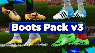 PES 2018   Boots Pack v3 by Tisera09 (DOWNLOAD +INSTALL)