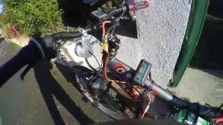 vélo électrique fait maison 2800w !!! alternateur part 3