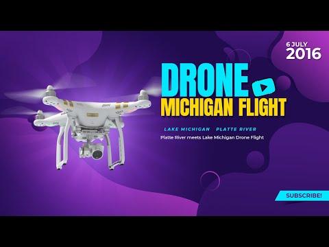 Platte River Meets Lake Michigan Drone Flight