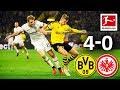 Borussia Dortmund Vs. Eintracht Frankfurt I 4-0 I Haaland, Sancho, Piszczek & Guerreiro Score