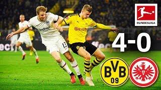 Borussia Dortmund Vs. Eintracht Frankfurt I 4 0 I Haaland, Sancho, Piszczek & Guerreiro Score