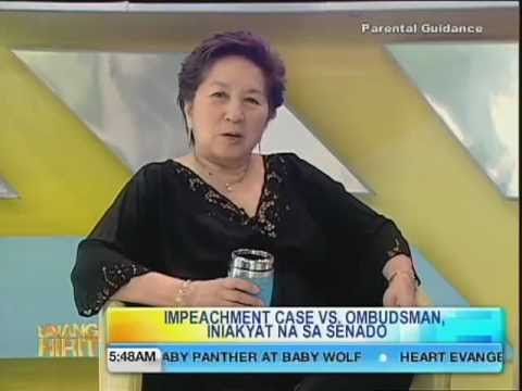 UH Hirit ni Mareng Winnie: Impeachment Against Ombudsman Gutierrez