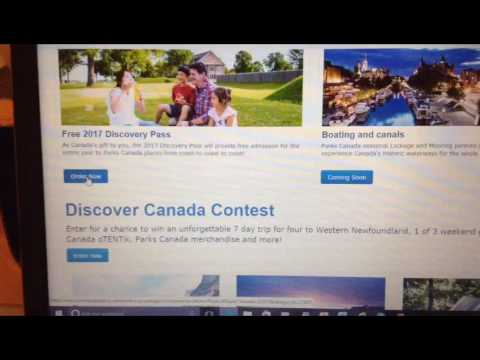 CANADA FREE DISCOVERY PASS PARKS 2017