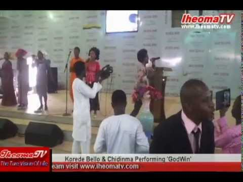 Korede Bello and Chidinma Performing GodWin In Church (Embrace International Assembly)