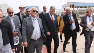 والي ولاية حموا  احمد التوهامي  و الرئيس مدير العام قيتوني مصطفى ..سونلغاز ..عين تموشنت