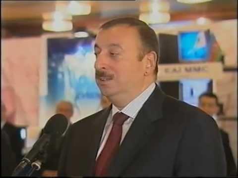 """Ali Evsen with the president of Azerbaijan Republic Ilham Aliyev in """"State Program 2008"""""""