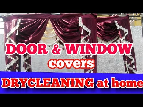 door & window  covers  dryclean at  home with demo in curtain wash at home  Hindi