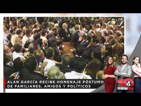 Alan García recibe homenaje póstumo de familiares, amigos y políticos - 10 minutos edición tarde