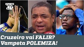 "O Cruzeiro vai FALIR? Vampeta POLEMIZA e DISPARA: ""É MUITO DRAMA!"""