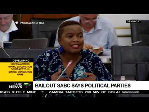 Bailout SABC says political parties