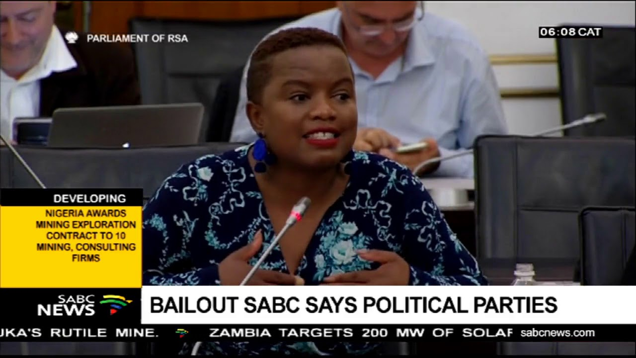 Bailout SABC says political parties