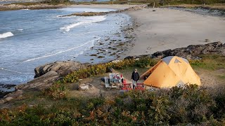 Hermit Island, Maine Camping. Camṗing by the ocean.