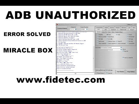 Miracle Box ADB Unauthorized error Solved 100% TESTED