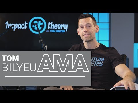 Tom Bilyeu AMA on Building a Billion Dollar Brand and Starting From Scratch