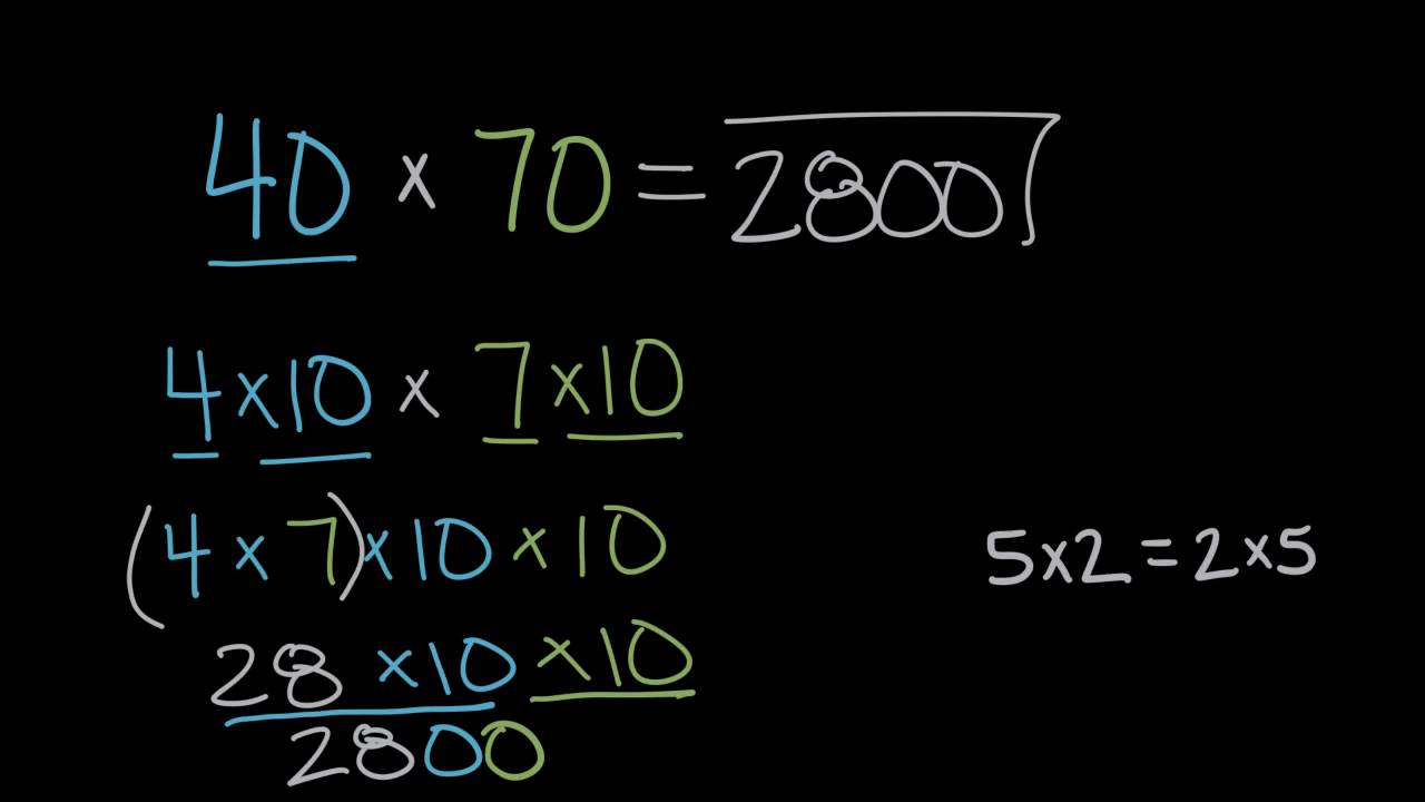 small resolution of Multiplying 10s   Math   4th grade   Khan Academy - YouTube