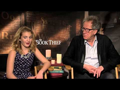THE BOOK THIEF s: Geoffrey Rush and Sophie Nélisse sit down with Andrew Freund