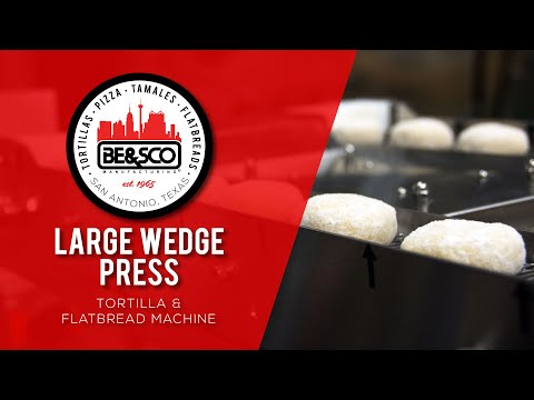 BE&SCO LARGE WEDGE PRESS - Tortilla / Flatbread Machine: Chapati, Roti, Naan, Lavash, Greek Pita