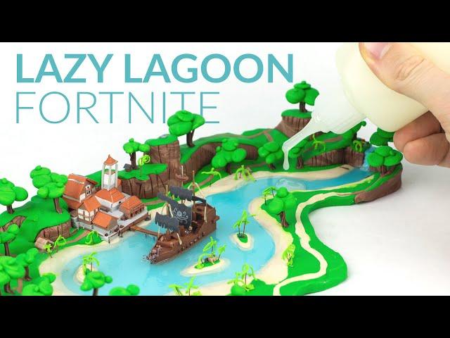 LAZY LAGOON & Liquid Clay (Fortnite Battle Royale) – Polymer Clay