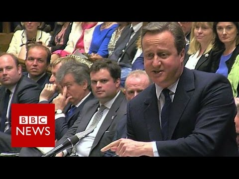 Cameron to Corbyn: 'For heaven's sake man, go!' - BBC News