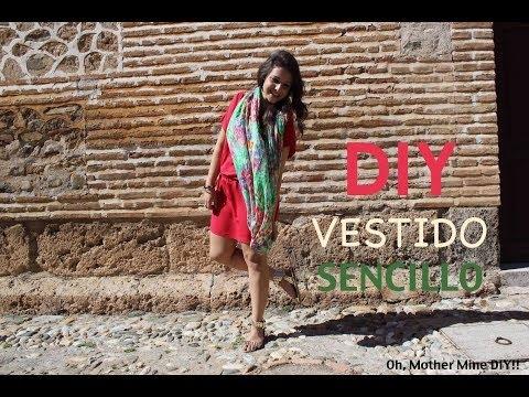 1dfa8cded8 DIY Vestido muy fácil para el verano (patrones incluidos) - YouTube